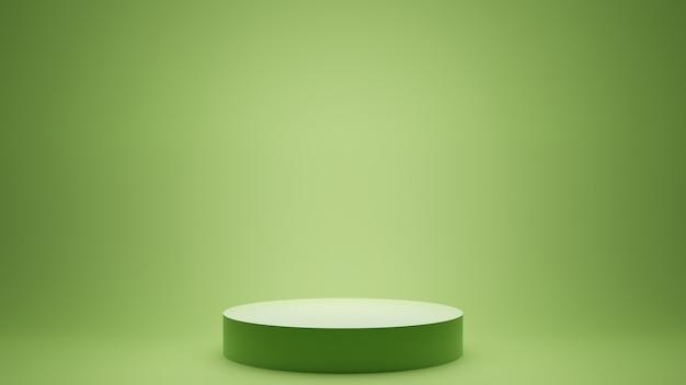 Rendering 3d sfondo minimo, scena con podio per la visualizzazione del prodotto.