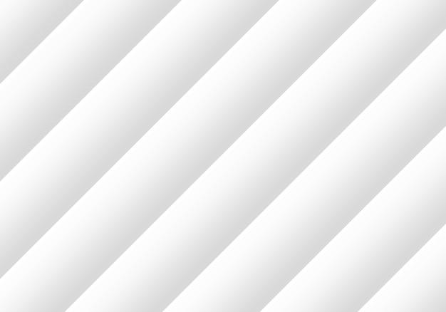 Rendering 3d. fondo della parete di arte di progettazione della piastra parallela diagonale bianca astratta moderna.