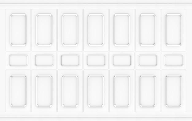 Rendering 3d. fondo della stanza della parete di legno del modello quadrato classico grigio moderno.