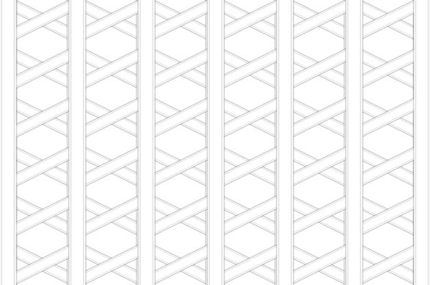 Rendering 3d. fondo di progettazione della parete del modello della maglia di forma esagonale moderna.