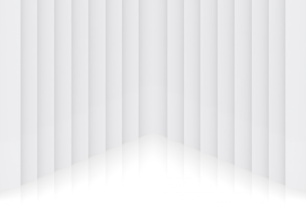 Rendering 3d. fondo di progettazione dell'angolo della parete del piatto verticale minimo leggero moderno del pannello.