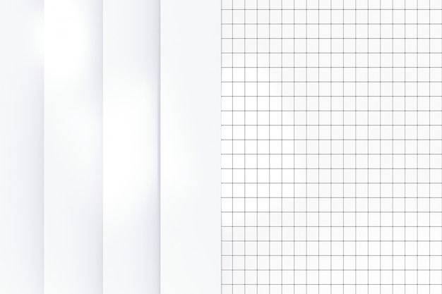Rendering 3d. moderno semplice pannello verticale bianco sul piccolo muro di piastrelle di ceramica sullo sfondo della parete.