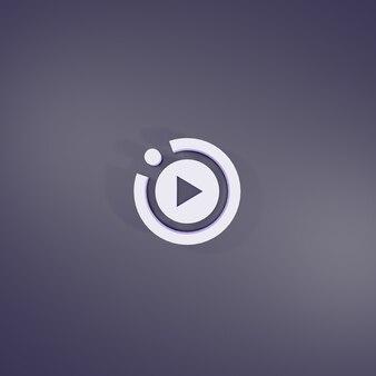 Segno di gioco movimento 3d rendering