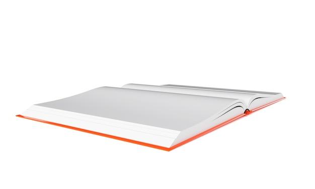 3d rendering immagine libro aperto isolato sfondo bianco