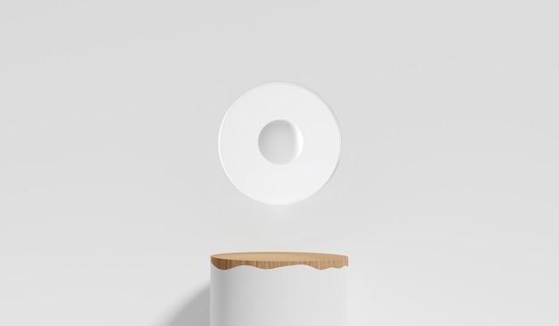 Rendering 3d del podio del piedistallo, visualizzazione minima per la presentazione del prodotto