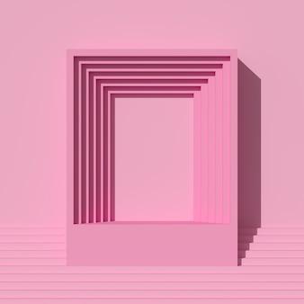 Rendering 3d di cornici rosa