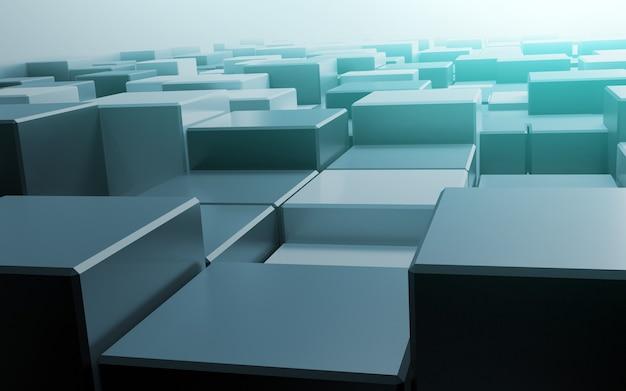 Fondo astratto del cubo del poligono di rendering 3d
