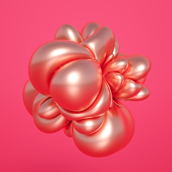 Rendering 3d di una composizione realistica. sfere volanti, tori, tubi, coni e cristalli in movimento.bellissimo minimalismo di sfondo di astrazione. illustrazione 3d, rendering 3d.