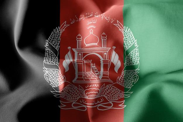3d che rende realistica la bandiera di seta d'ondeggiamento dell'afghanistan