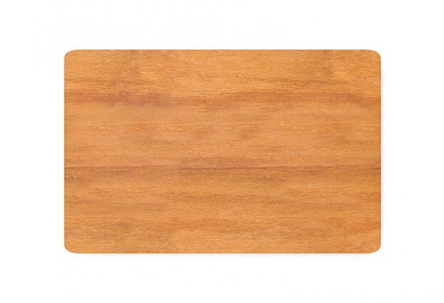 Rendering 3d. rettangolo tagliere macellaio di legno