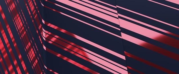 La linea del modello dell'oro rosa della rappresentazione 3d riflette il fondo di lusso.