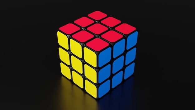 Rendering 3d del cubo di rubico