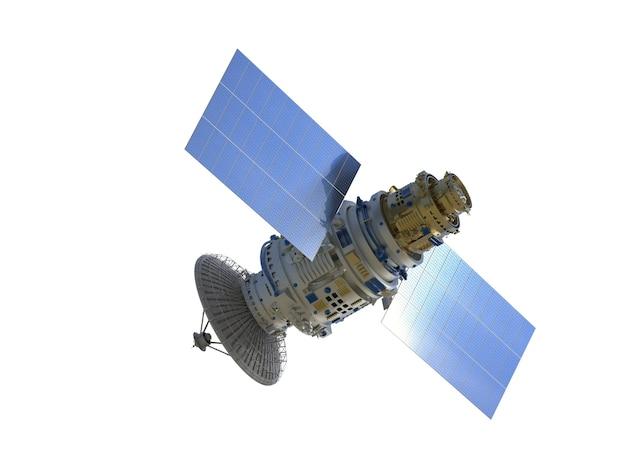 3d rendering satellitare isolato su bianco
