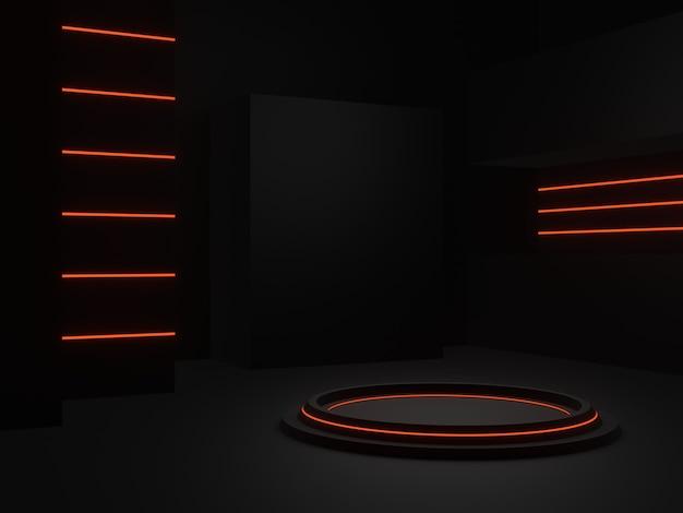Stand di prodotto sci fi rendering 3d