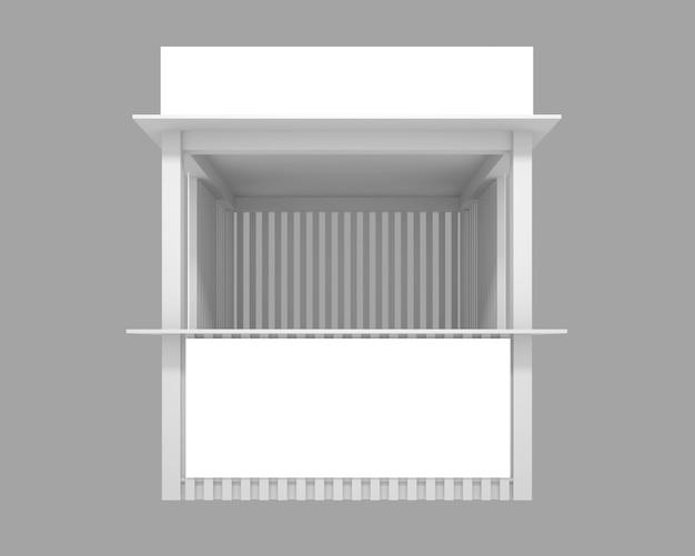 Padiglione della via dello shopping di rendering 3d con un posto per la pubblicità