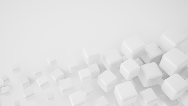 Rendering 3d sfondo bianco astratto