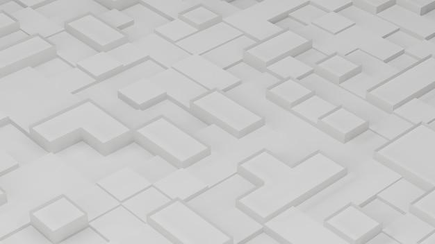 Rendering 3d di astratto bianco