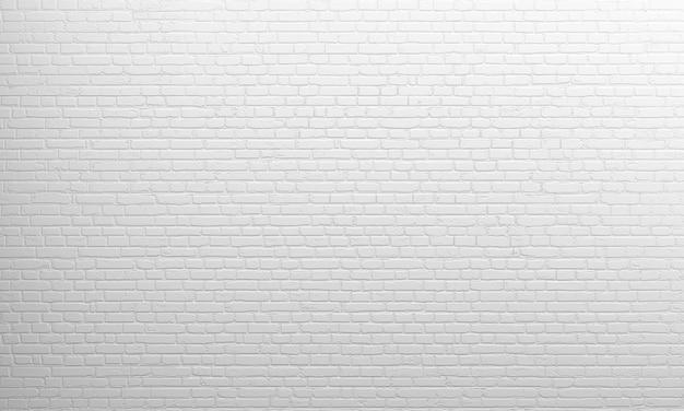 Rendering 3d. vecchio muro di mattoni bianco del fondo