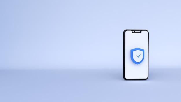 Icona di sicurezza di sicurezza 3d un'illustrazione 3d
