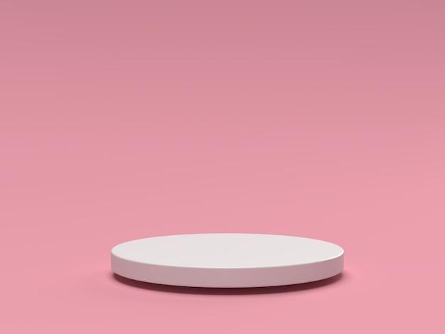 Scena 3d sfondo cosmetico del podio geometrico minimo per la presentazione del prodotto