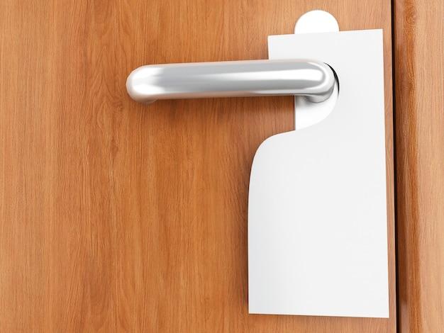 Segno 3d sulla maniglia della porta