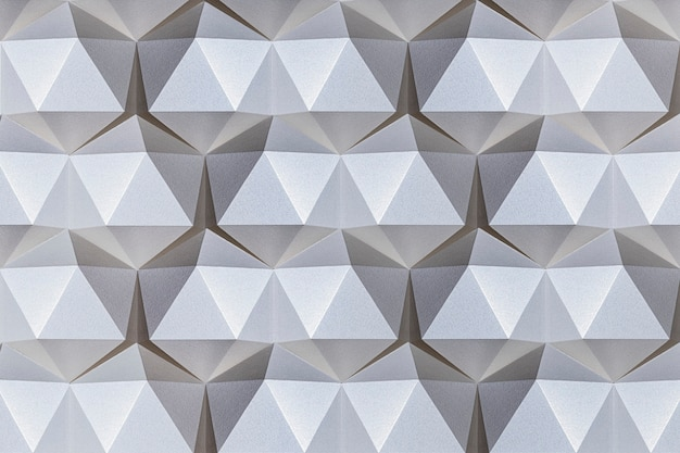 Fondo modellato icosaedro del mestiere di carta d'argento 3d