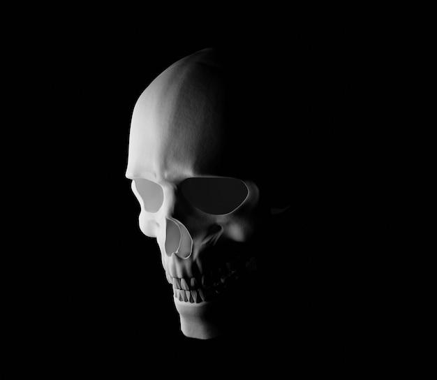 Illustrazione del cranio 3d raccapricciante helloween spaventoso horror oscuro