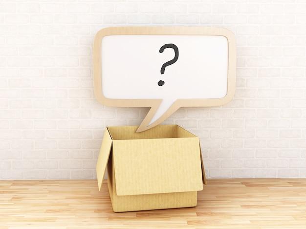 Bolla di discorso 3d punto interrogativo