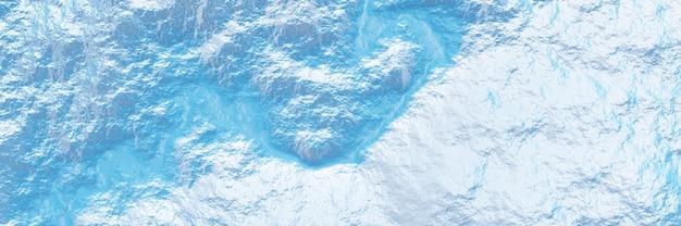 Terreno topografico con vista dall'alto 3d