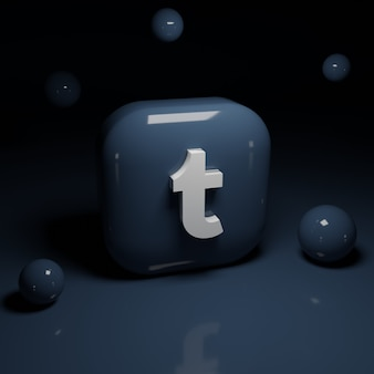 Applicazione del logo tumblr 3d