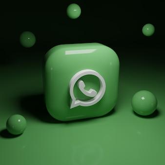 Applicazione del logo whatsapp 3d
