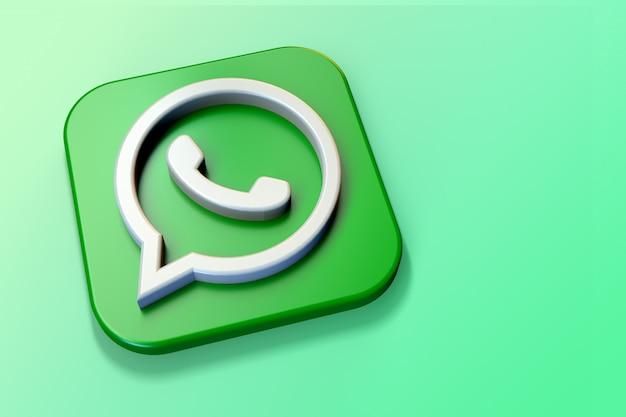 Logo 3d whatsapp minimalista con uno spazio vuoto