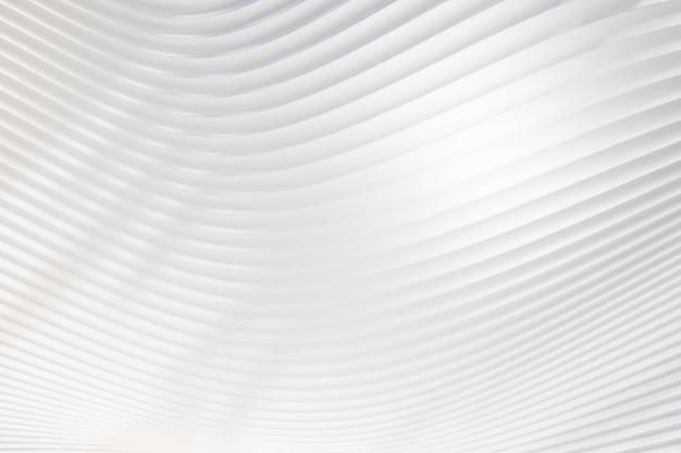 Parete bianca dell'onda della curva 3d. rendering dell'illustrazione 3d.