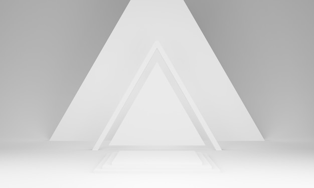 Podio della fase geometrica bianca 3d