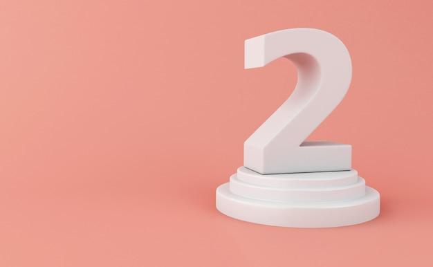 3d numero bianco 2.