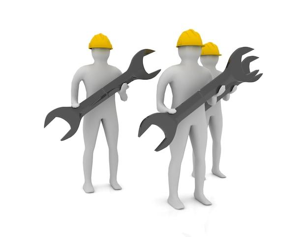 Concetto di lavoratori 3d