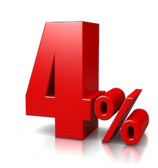 4 per cento