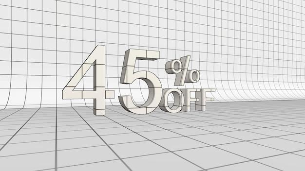 45% di sconto sul rendering 3d