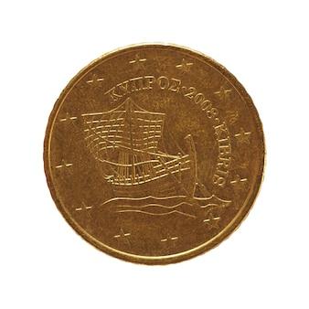 50 centesimi di moneta, unione europea, cipro isolato su bianco