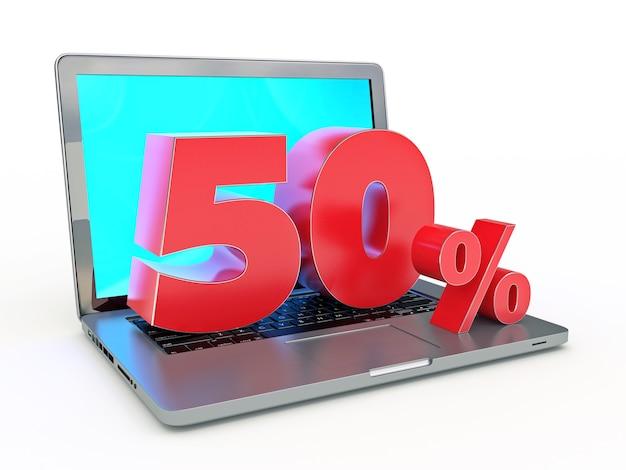 50 percento di sconto laptop e sconti in internet