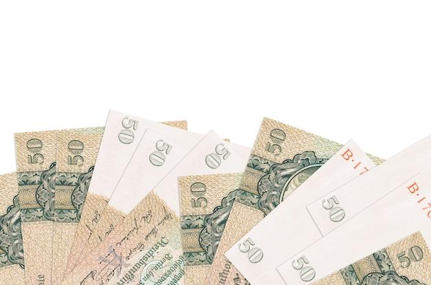 50 reich segna come isolate le banconote sul lato inferiore dello schermo. modello di banner di sfondo per concetti di business con i soldi