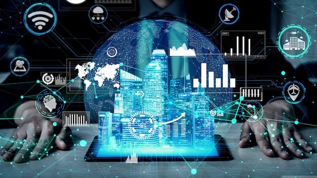 Tecnologia di comunicazione 5g della rete internet concettuale