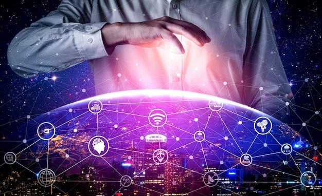 Tecnologia di comunicazione 5g della rete internet
