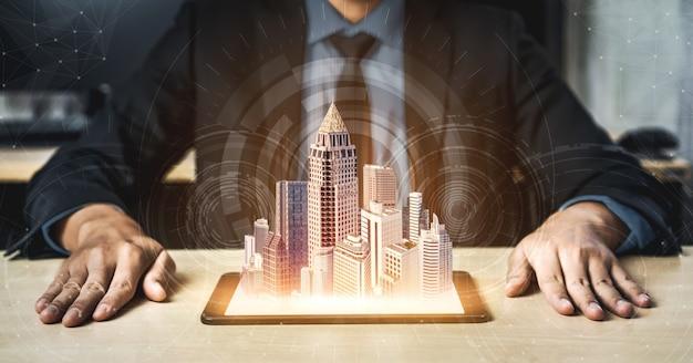 Tecnologia di comunicazione 5g rete internet wireless per la crescita del business globale, social media, e-commerce digitale e intrattenimento per uso domestico.