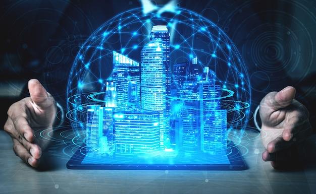 Rete internet wireless con tecnologia di comunicazione 5g per la crescita del business globale