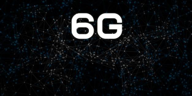 6g nuovo sfondo di comunicazione collegamento ipertestuale connessione internet wifi wireless connessione,