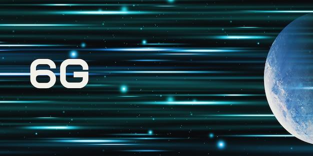 Rete tecnologica 6g, internet mobile ad alta velocità concetto di comunicazione e trasmissione