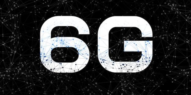 Internet wireless 6g sfondo di comunicazione collegamento ipertestuale