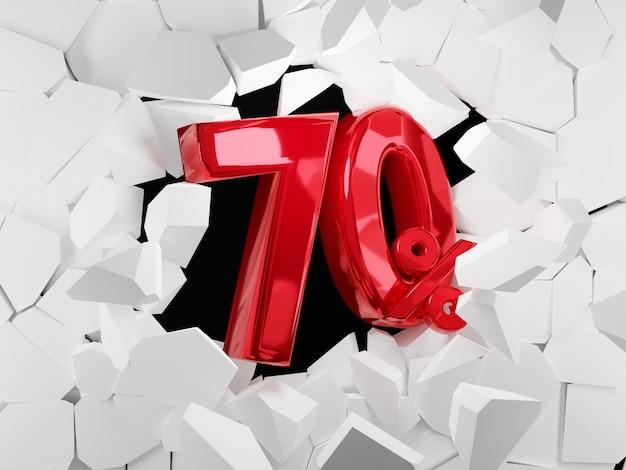 Idea di venerdì nero di vendita del 70 percento nella rappresentazione 3d