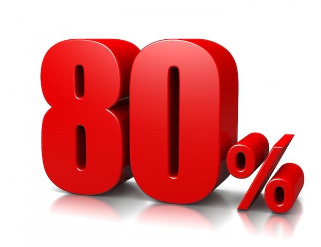 80 per cento